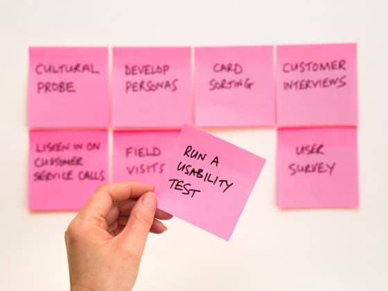 """Run a usability test"" post it note"